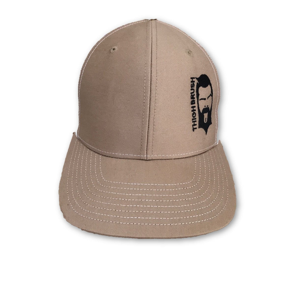 THIGHBRUSH® - Trucker Snapback Hat - Khaki and White - thighbrush