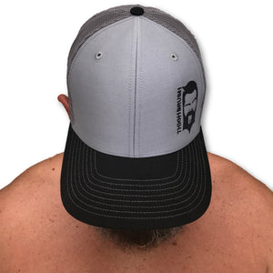 THIGHBRUSH® -Trucker Snapback Hat - Black and Grey - thighbrush