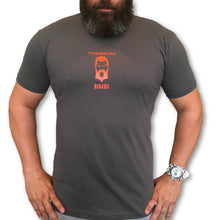 "THIGHBRUSH® BIKERS - ""Ridden Hard And Put Away Wet"" - Men's T-Shirt - Grey and Orange - thighbrush"