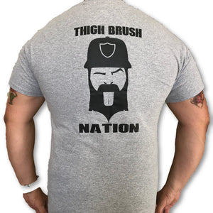 THIGHBRUSH NATION - Men's T-Shirt - Heather Grey and Black - THIGHBRUSH®