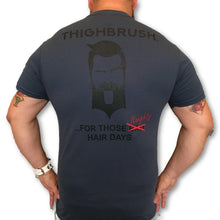 THIGHBRUSH - For Those Naughty Hair Days - Men's T-Shirt - Navy Blue and Black
