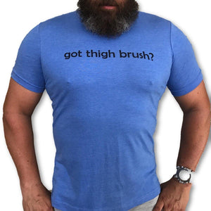 THIGHBRUSH - GOT THIGHBRUSH? - Men's T-Shirt - Royal Blue and Black - THIGHBRUSH®