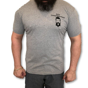 THIGHBRUSH - Got THIGHBRUSH? - Men's T-Shirt - Heather Grey and Black - THIGHBRUSH®