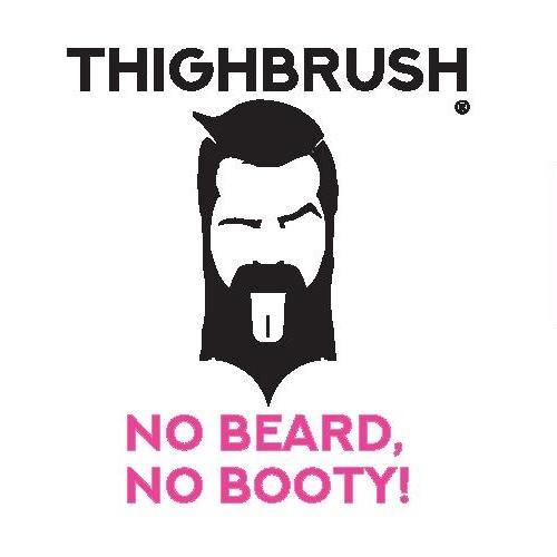 "THIGHBRUSH® - ""NO BEARD, NO BOOTY"" - Sticker - Small"