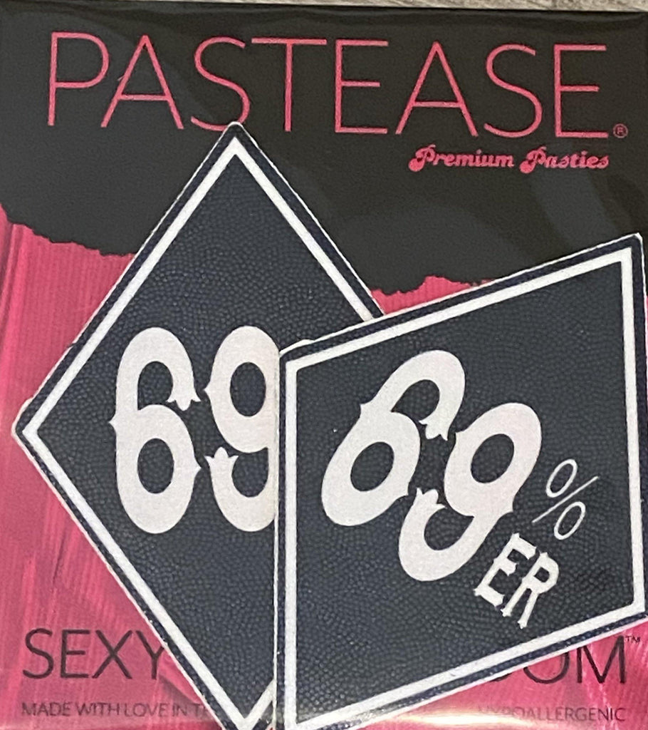 "Pastease® Premium Pasties - THIGHBRUSH® ""69% ER DIAMOND COLLECTION"" - Black - THIGHBRUSH®"