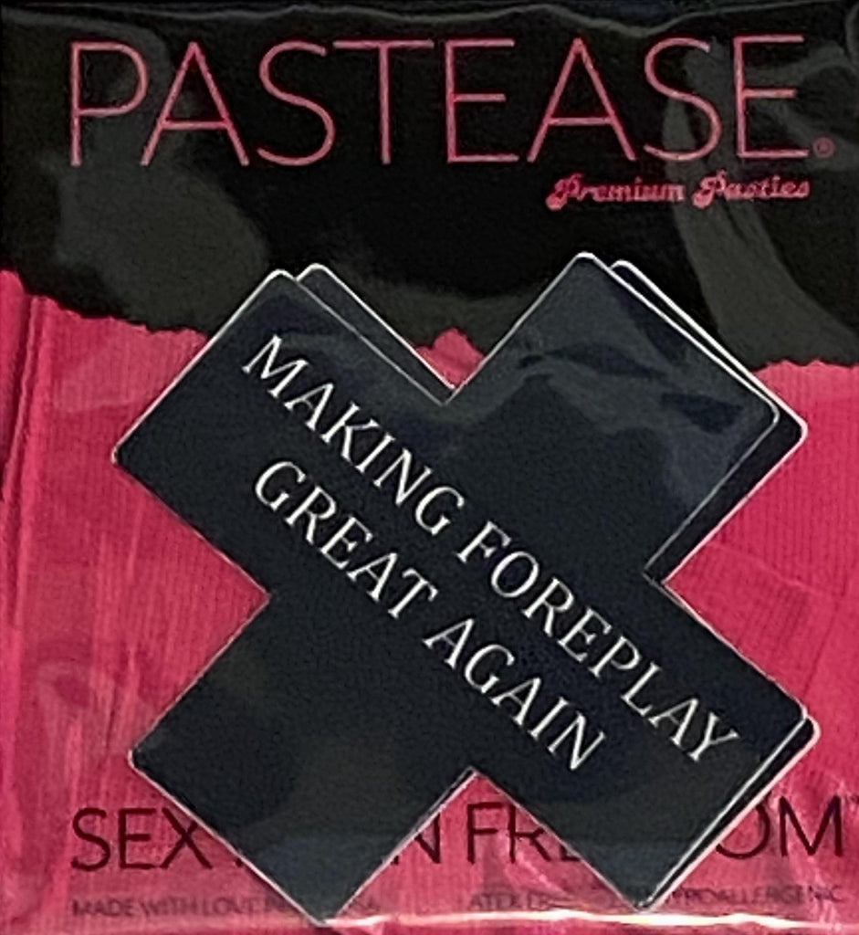 "Pastease® Premium Pasties - THIGHBRUSH® ""Making Foreplay Great Again"" - Cross in Black - THIGHBRUSH®"