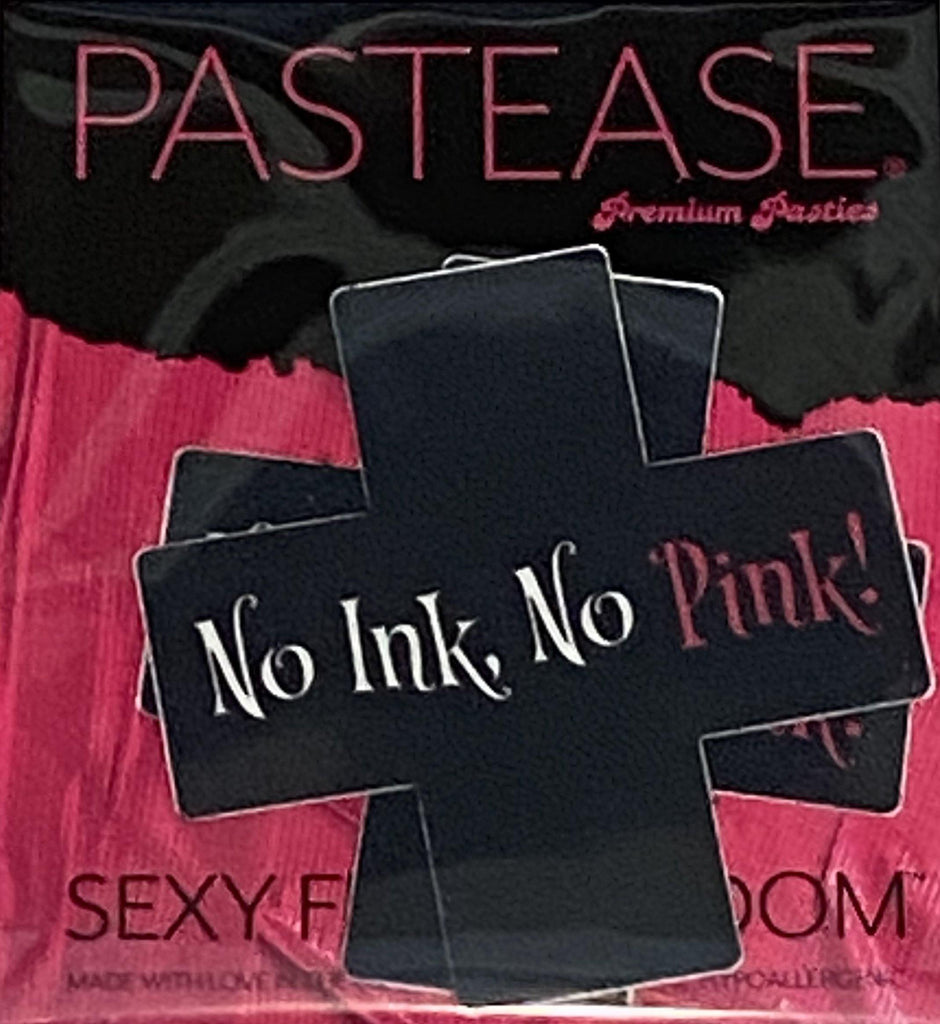"Pastease® Premium Pasties - THIGHBRUSH® ""No Ink, No Pink!""- Cross in Black"