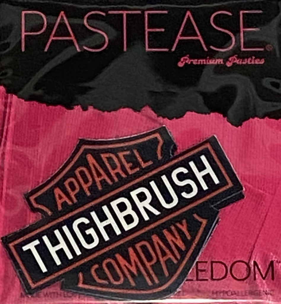 "Pastease® Premium Pasties - THIGHBRUSH® APPAREL COMPANY"" - Logo in Black - THIGHBRUSH®"