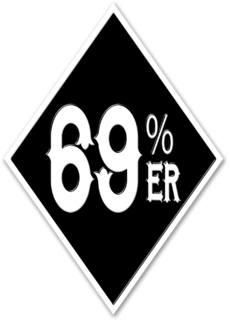 "THIGHBRUSH® ""69% ER DIAMOND COLLECTION"" - Enamel Lapel Pin - Black and White"