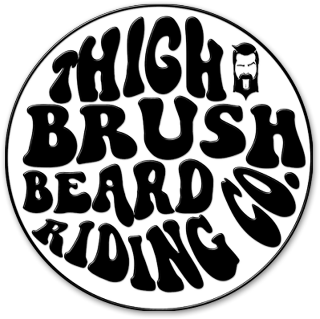 THIGHBRUSH® BEARD RIDING COMPANY - Enamel Lapel Pin - Black and White