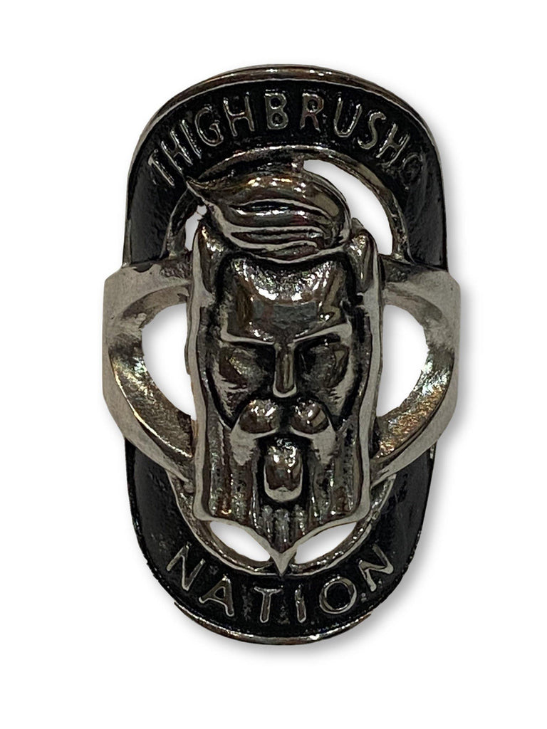 THIGHBRUSH NATION STAINLESS STEEL RING