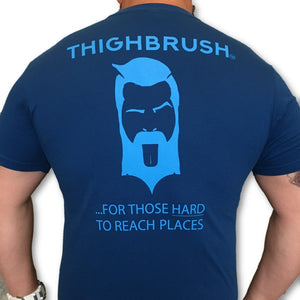 THIGHBRUSH - For Those Hard to Reach Places - Men's T-Shirt - Blue and Light Blue - THIGHBRUSH®