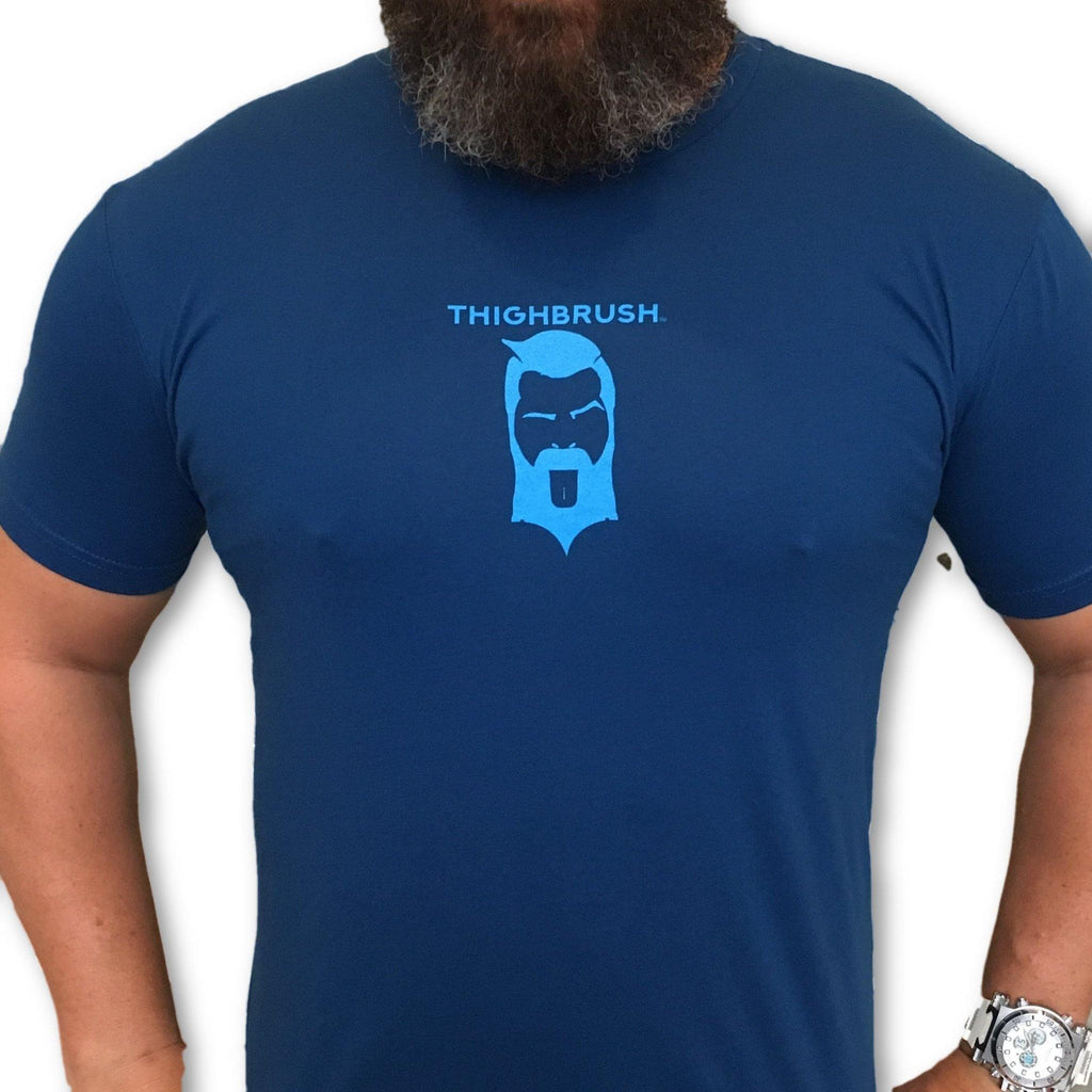 THIGHBRUSH® - For Those Hard to Reach Places - Men's T-Shirt - Blue and Light Blue - thighbrush