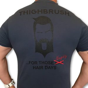 THIGHBRUSH - For Those Naughty Hair Days - Men's T-Shirt - Navy Blue and Black - THIGHBRUSH®