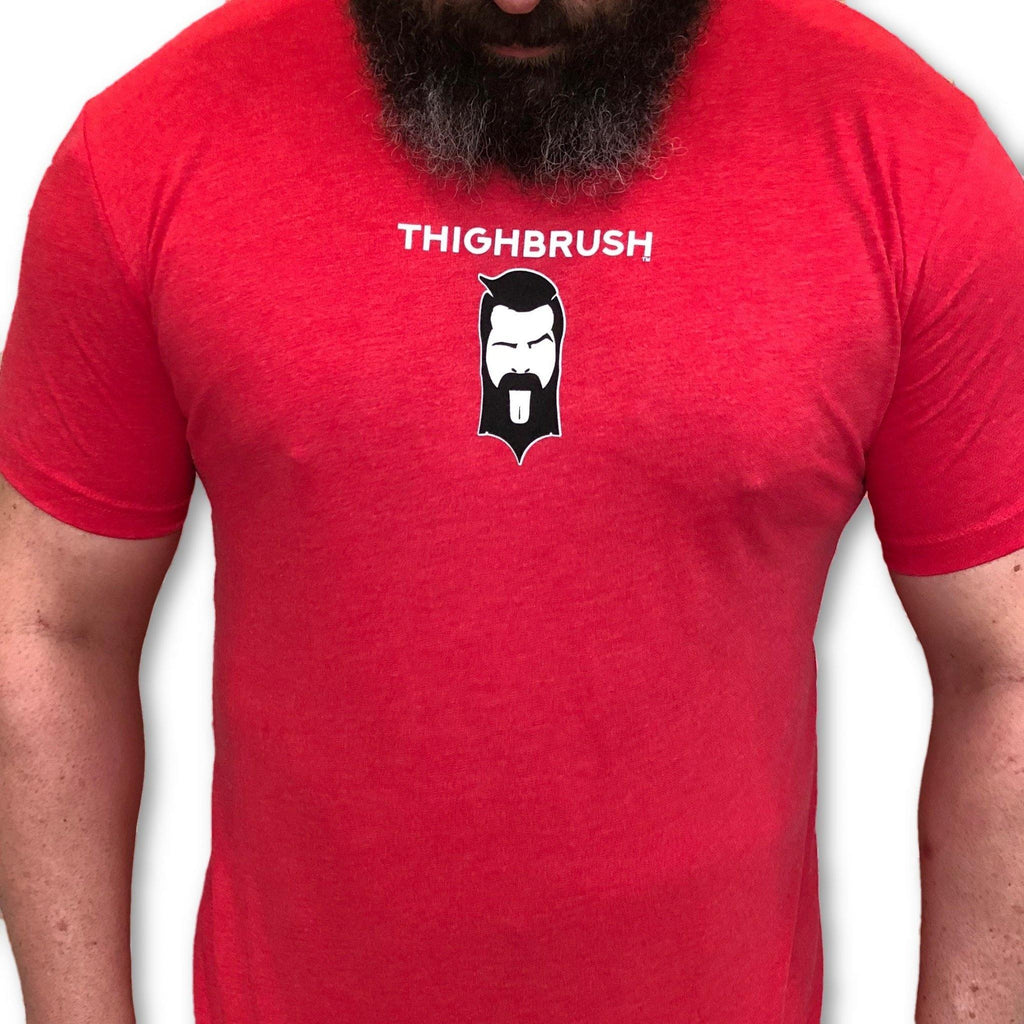 "THIGHBRUSH® - ""Making Foreplay Great Again"" - Men's T-Shirt - Red - thighbrush"