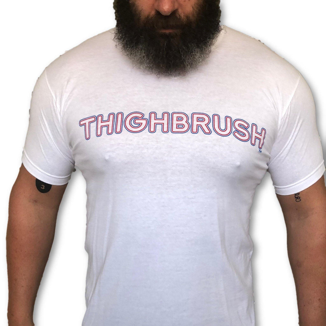 THIGHBRUSH - Red, White and Blue - Men's T-Shirt -