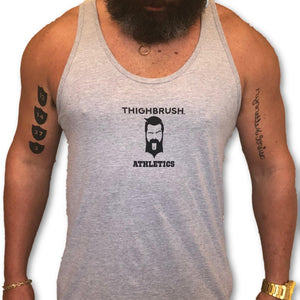 THIGHBRUSH ATHLETICS - PRACTICE SAFE SETS - MEN'S TANK TOP - GREY AND BLACK - THIGHBRUSH®