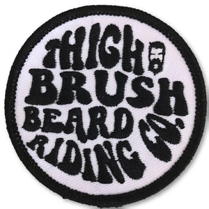 THIGHBRUSH® BEARD RIDING COMPANY - Logo Patch - Black and White (Sew-on) - thighbrush