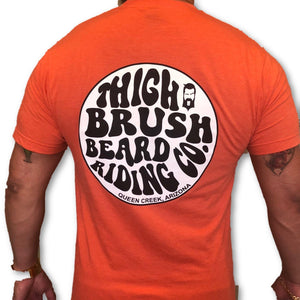 THIGHBRUSH BEARD RIDING COMPANY - Men's Logo T-Shirt - Tangerine - THIGHBRUSH®