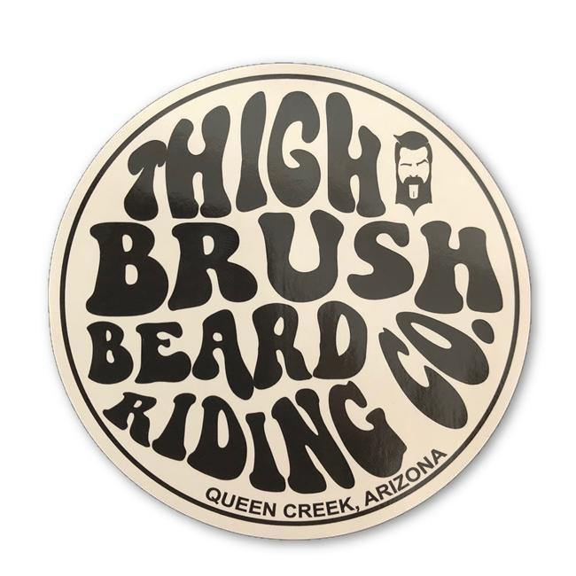 THIGHBRUSH BEARD RIDING COMPANY STICKER - BEARD PRODUCTS