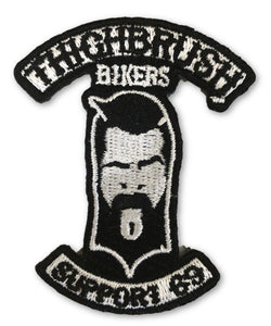 "THIGHBRUSH BIKERS - ""SUPPORT 69"" Patch - Black and White (Sew-on) - thighbrush"