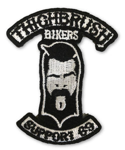 "THIGHBRUSH BIKERS - ""SUPPORT 69"" Patch - Black and White (Sew-on) - THIGHBRUSH®"