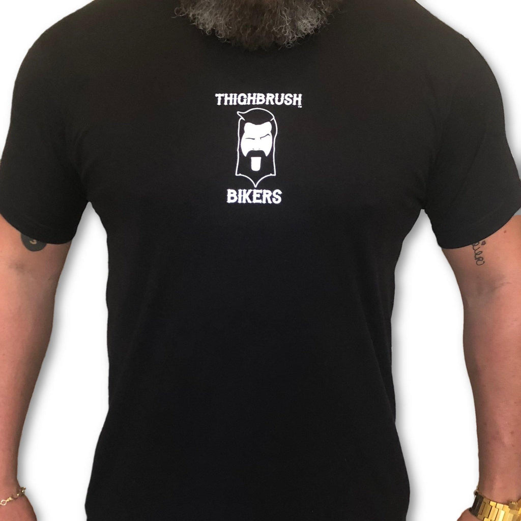 "THIGHBRUSH® BIKERS - ""SUPPORT 69"" - Men's T-Shirt - Black and White - thighbrush"