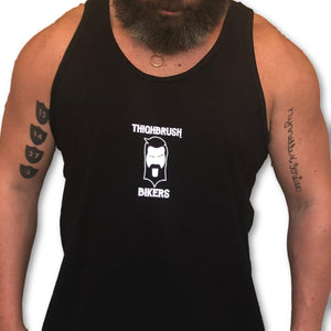 "THIGHBRUSH BIKERS - ""SUPPORT 69"" - Men's Tank Top - Black and White"