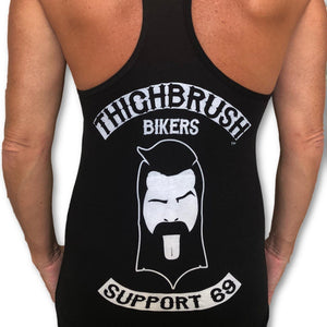 "THIGHBRUSH BIKERS - ""SUPPORT 69"" - Women's Tank Top - Black and White"