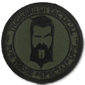 "THIGHBRUSH TACTICAL - MORAL PATCH ""For Those Special Ops"" Olive Green (Sew-on) - thighbrush"