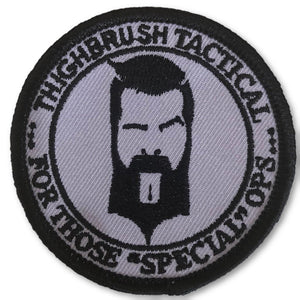 "THIGHBRUSH TACTICAL - MORAL PATCH ""For Those Special Ops"" Grey and Black (Sew-on) - thighbrush"