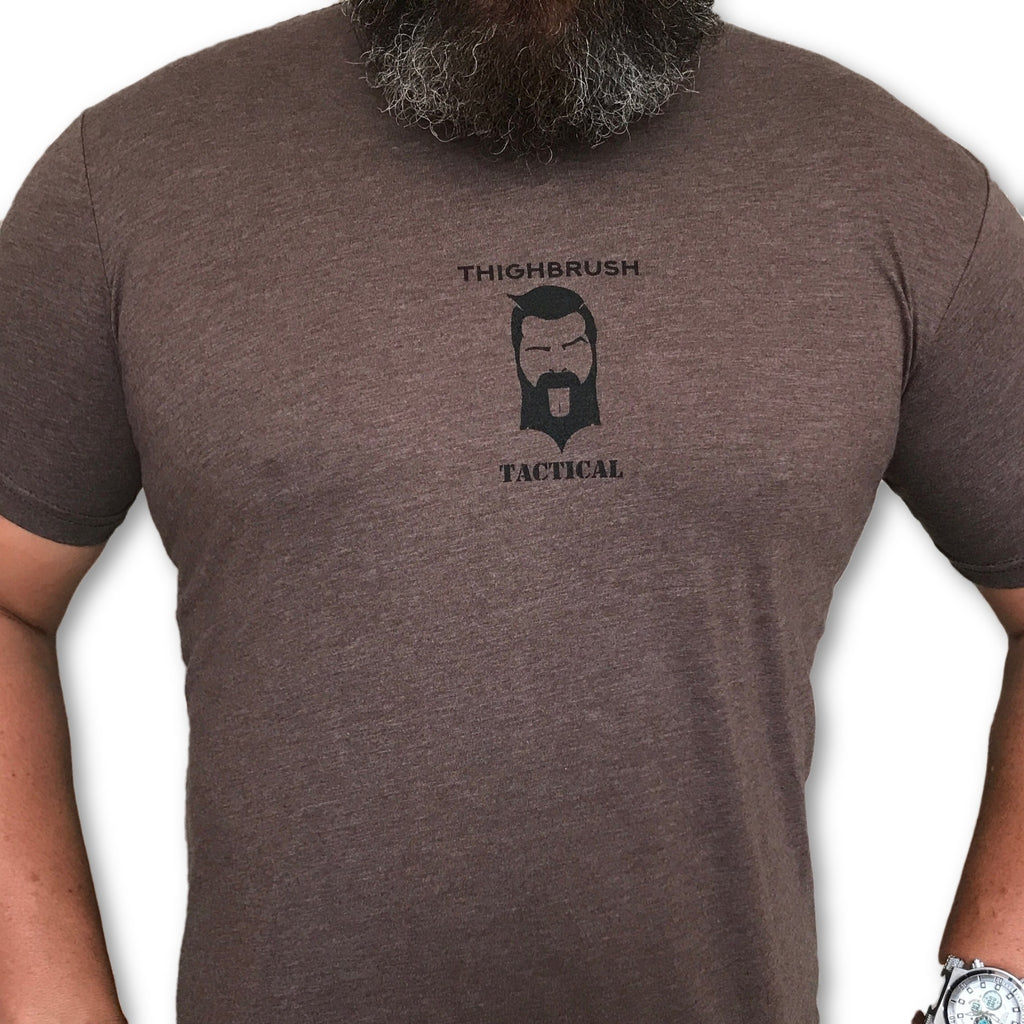 THIGHBRUSH TACTICAL - Always Keep Your Muzzle Down Range - Men's T-Shirt - Brown and Black - thighbrush