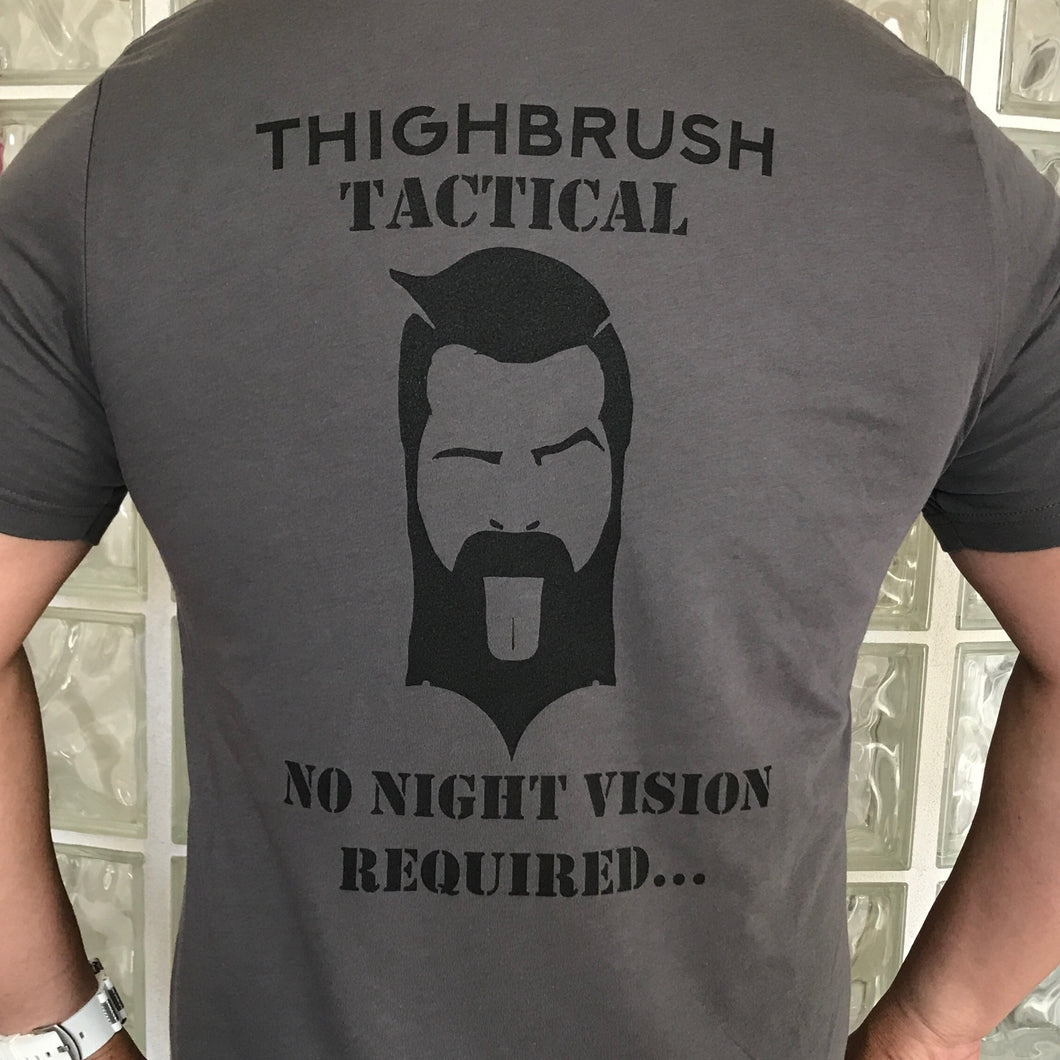 THIGHBRUSH TACTICAL - No Night Vision Required - Men's T-Shirt - Grey and Black - THIGHBRUSH®