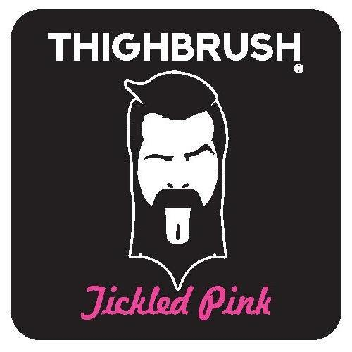 "THIGHBRUSH® - ""Tickled Pink"" - Sticker - Small"