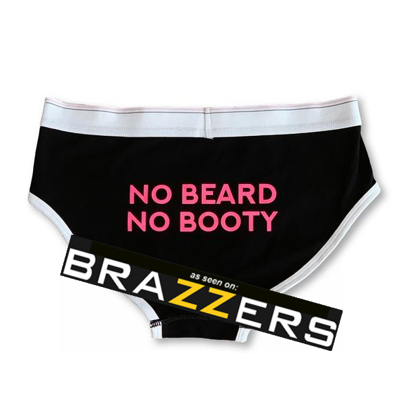 "THIGHBRUSH® - ""No Beard, No Booty!"" - Women's Boyfriend Brief Underwear - thighbrush"