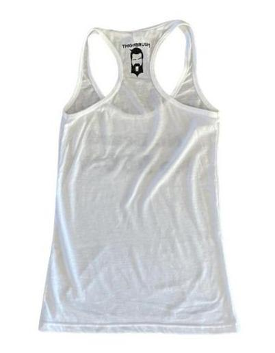 THIGHBRUSH® - No Beard No BOOty - WHITE TANK TOP