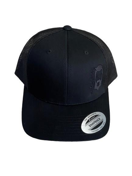 THIGHBRUSH® - Trucker Snapback Hat - Black on Black