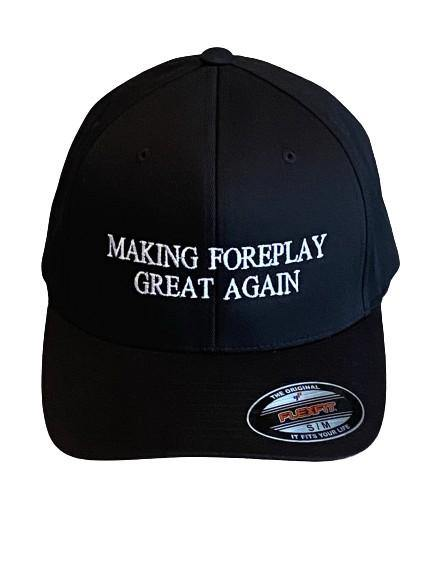 "THIGHBRUSH® - ""Making Foreplay Great Again"" - FlexFit Hat - Black - THIGHBRUSH®"