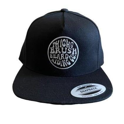 THIGHBRUSH® BEARD RIDING COMPANY - Wool Blend Snapback Hat - Black with Silver - Flat Bill