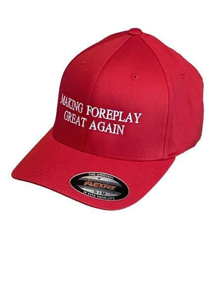 "THIGHBRUSH® - ""Making Foreplay Great Again"" - FlexFit Hat - Red"