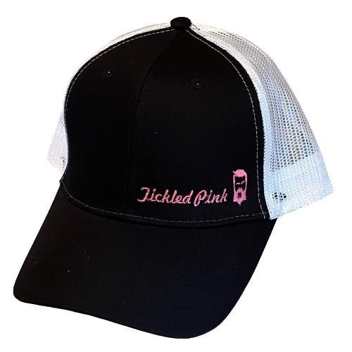 "THIGHBRUSH® ""Tickled Pink"" - Trucker Snapback Hat  - Black and White with Pink"