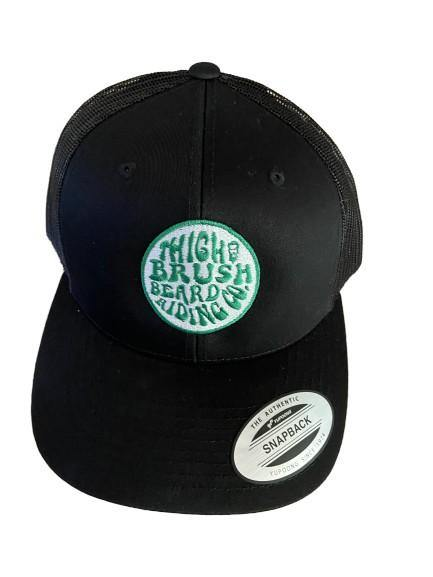 THIGHBRUSH® BEARD RIDING COMPANY - Trucker Snapback Hat - Black - Green Logo