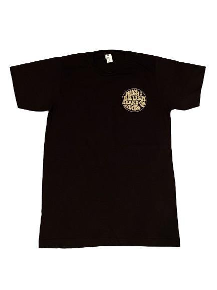 THIGHBRUSH® BEARD RIDING COMPANY - Men's Logo T-Shirt - Black with Gold
