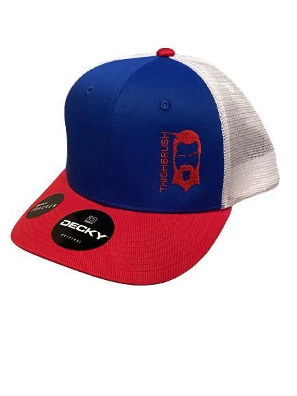 "THIGHBRUSH® - ""LIMITED EDITION"" - Trucker Snapback Hat - Red, White and Blue"