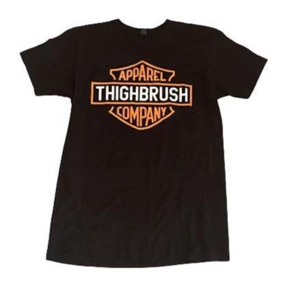 THIGHBRUSH® APPAREL COMPANY - Men's T-Shirt - Black and Orange