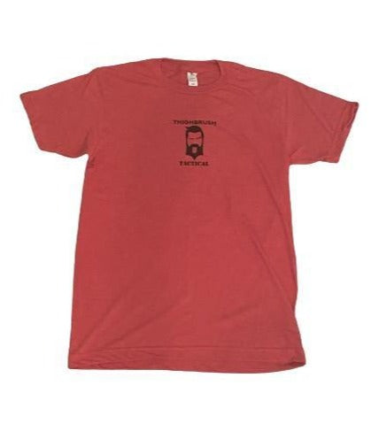 "THIGHBRUSH® TACTICAL - ""Find 'Em Hot, Leave them Wet!"" -Men's T-Shirt - Heather Red"
