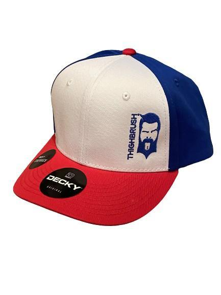 "THIGHBRUSH® - ""LIMITED EDITION"" - Snapback Hat - Red, White and Blue"
