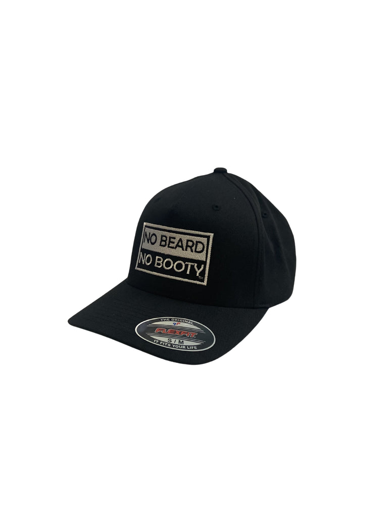 "THIGHBRUSH® ""NO BEARD NO BOOTY"" - FlexFit Hat - Black"