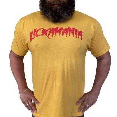 "PREMIUM EDITION - THIGHBRUSH® - ""LICKAMANIA"" - Men's T-Shirt - Yellow Gold"