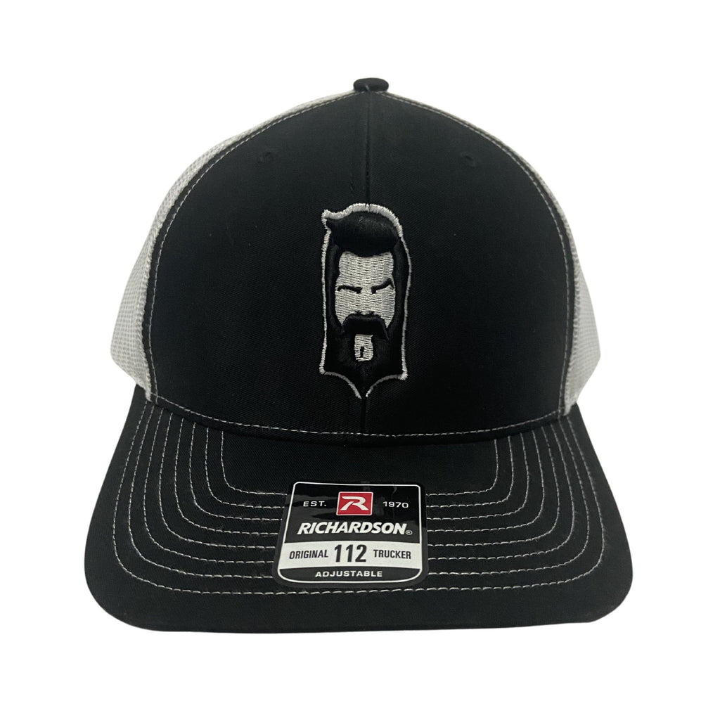 THIGHBRUSH® - Trucker Snapback Puff Hat - Black and White